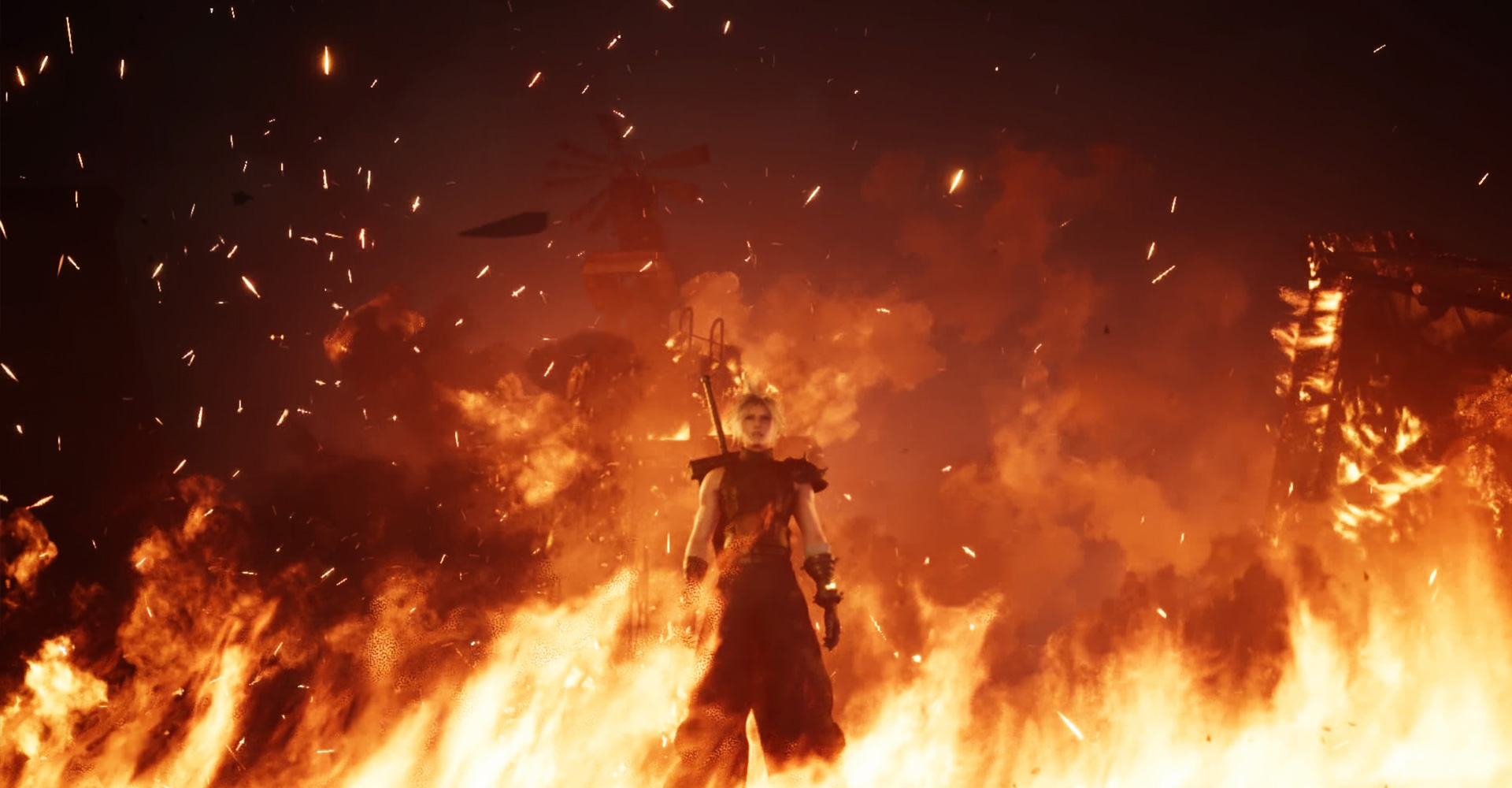 FF7 Remake Cloud Feuer