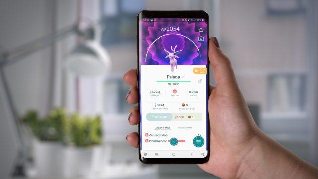 Angreifer Psiana im Mobile Game Pokémon Go