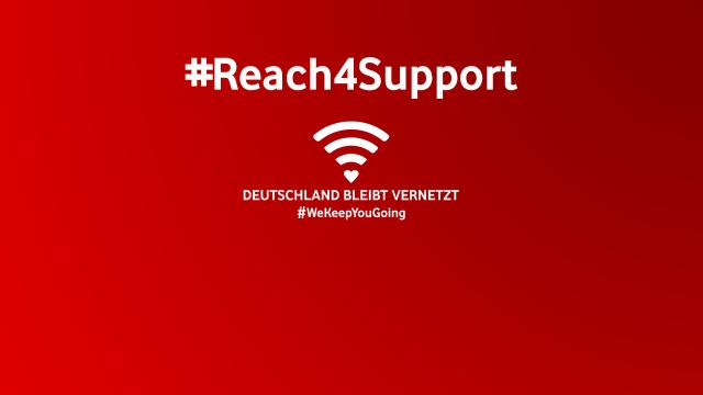 #Reach4Support: Vodafone schenkt Reichweite für den guten Zweck