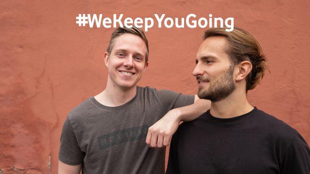 Die beiden Gründer Malte Hendricks und Fritz Fried des Start-ups LOLOCO