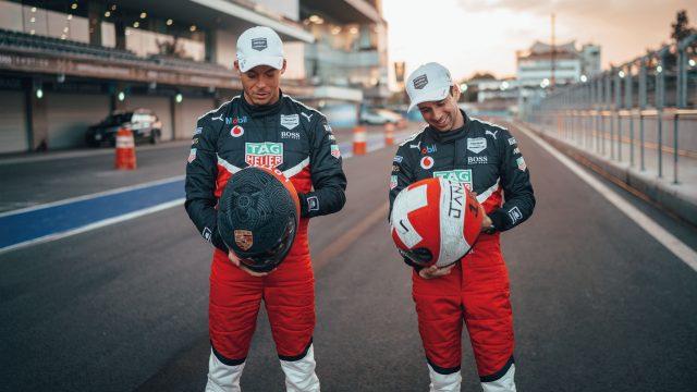 Die beiden Porsche-Werksfahrer André Lotterer und Neel Jani.
