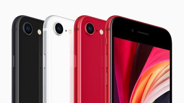 iPhone SE schwarz weiss rot