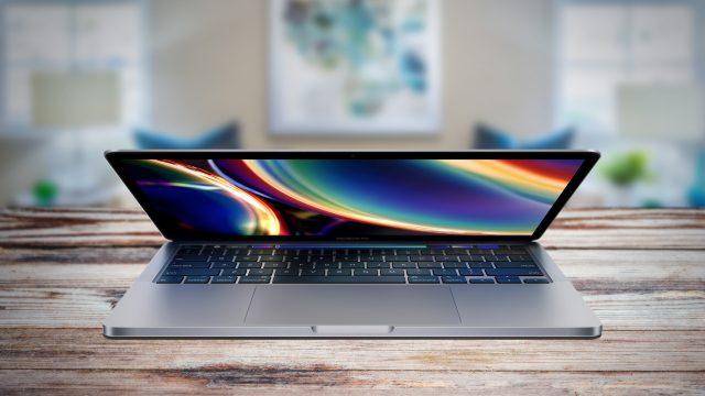 MacBook Pro 13 (2020) aufgeklappt
