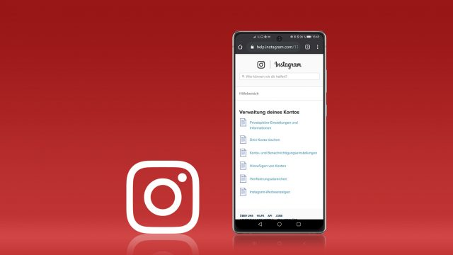Instagram-Account deaktivieren