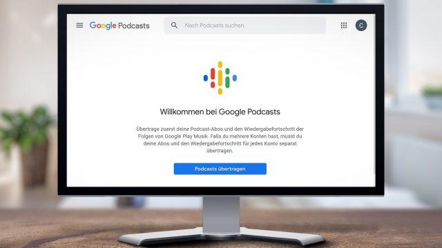 Google Podcasts Daten aus Play Music übertragen