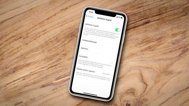 iPhone 11 geführter Zugriff