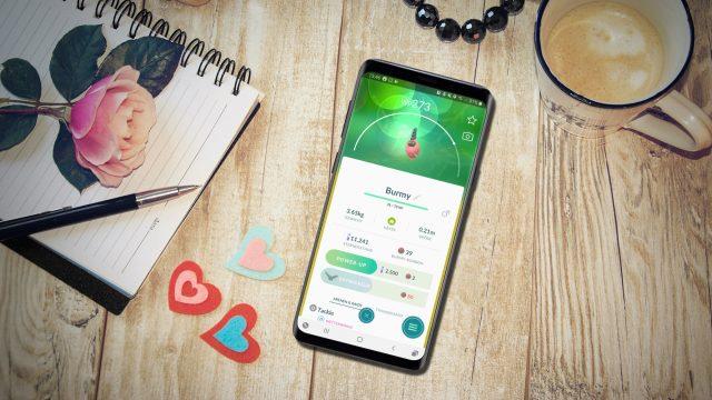 Burmy in Pokémon Go am Samsung Galaxy S9+