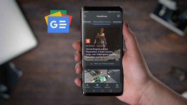 Google-News-App auf Smartphone