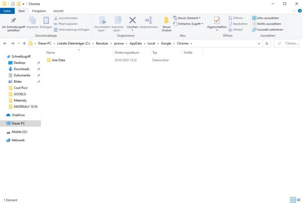 Google Chrome: Einstellungen exportieren