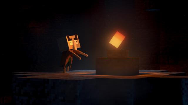 Spielszene aus Minecraft Dungeons