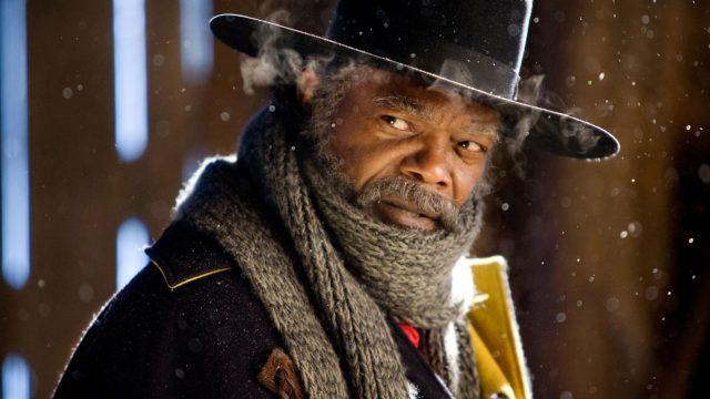 Samual L. Jackson als Major Marquis Warren in The Hatefull Eight
