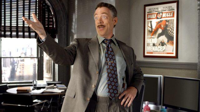 "J.K. Simmons als J. Jonah Jameson in ""Spider-Man 2""."