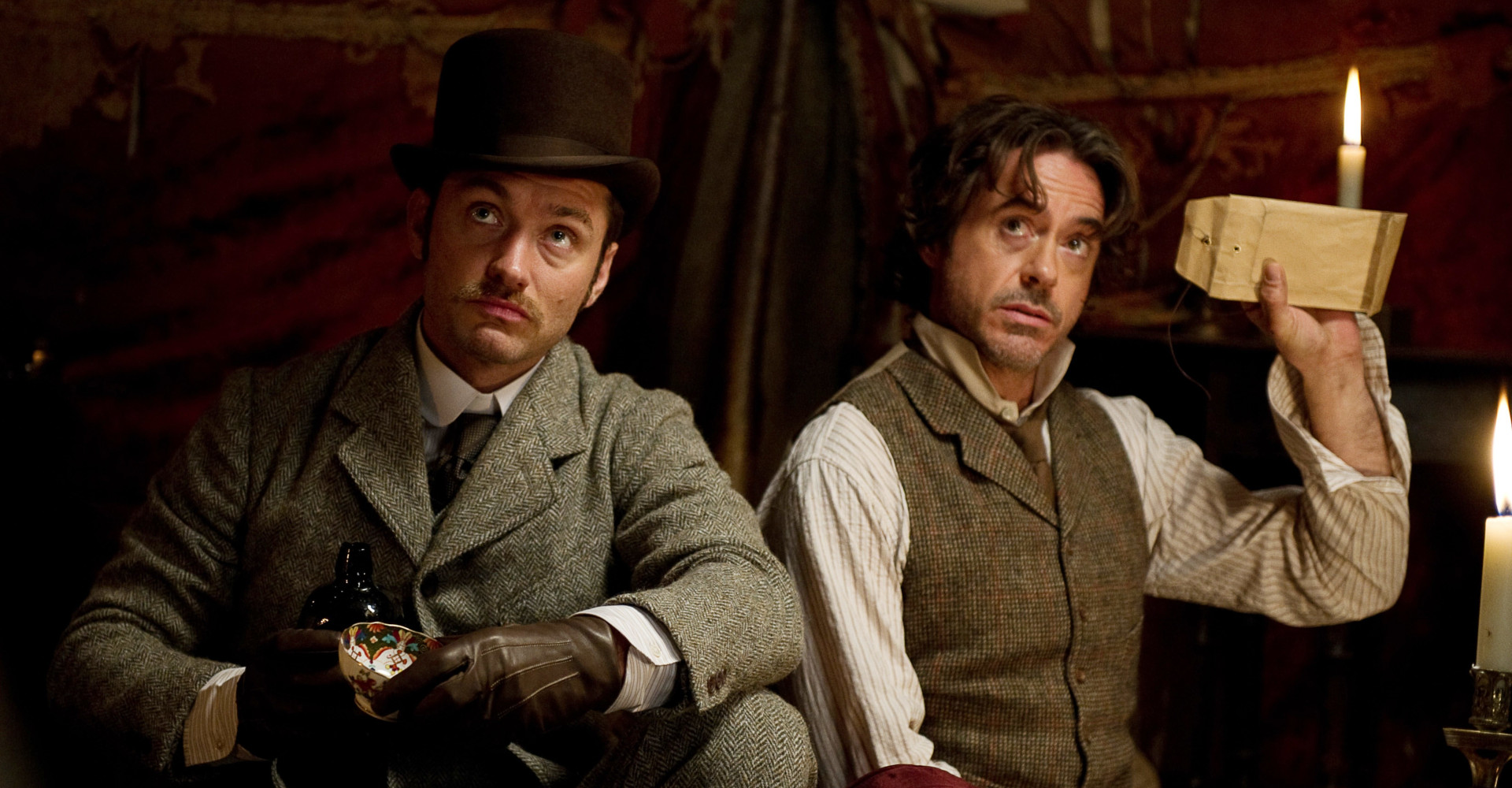 Robert Downey Jr. und Jude Law in Sherlock-Holmes-Film