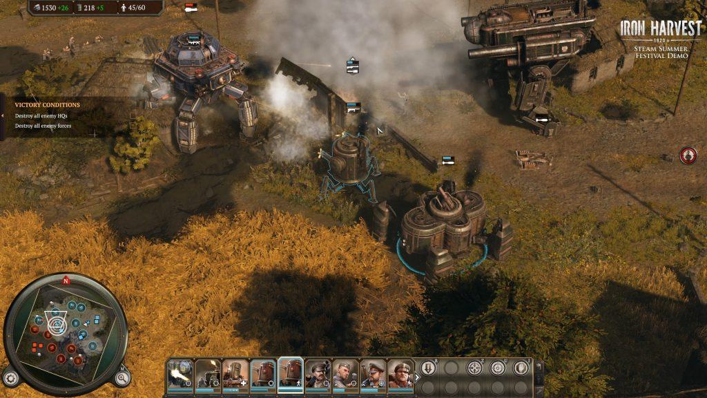 Riesige Mechs bei Iron Harvest