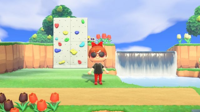 Screenshot von wolkigem Wetter Animal Crossing: New Horizons
