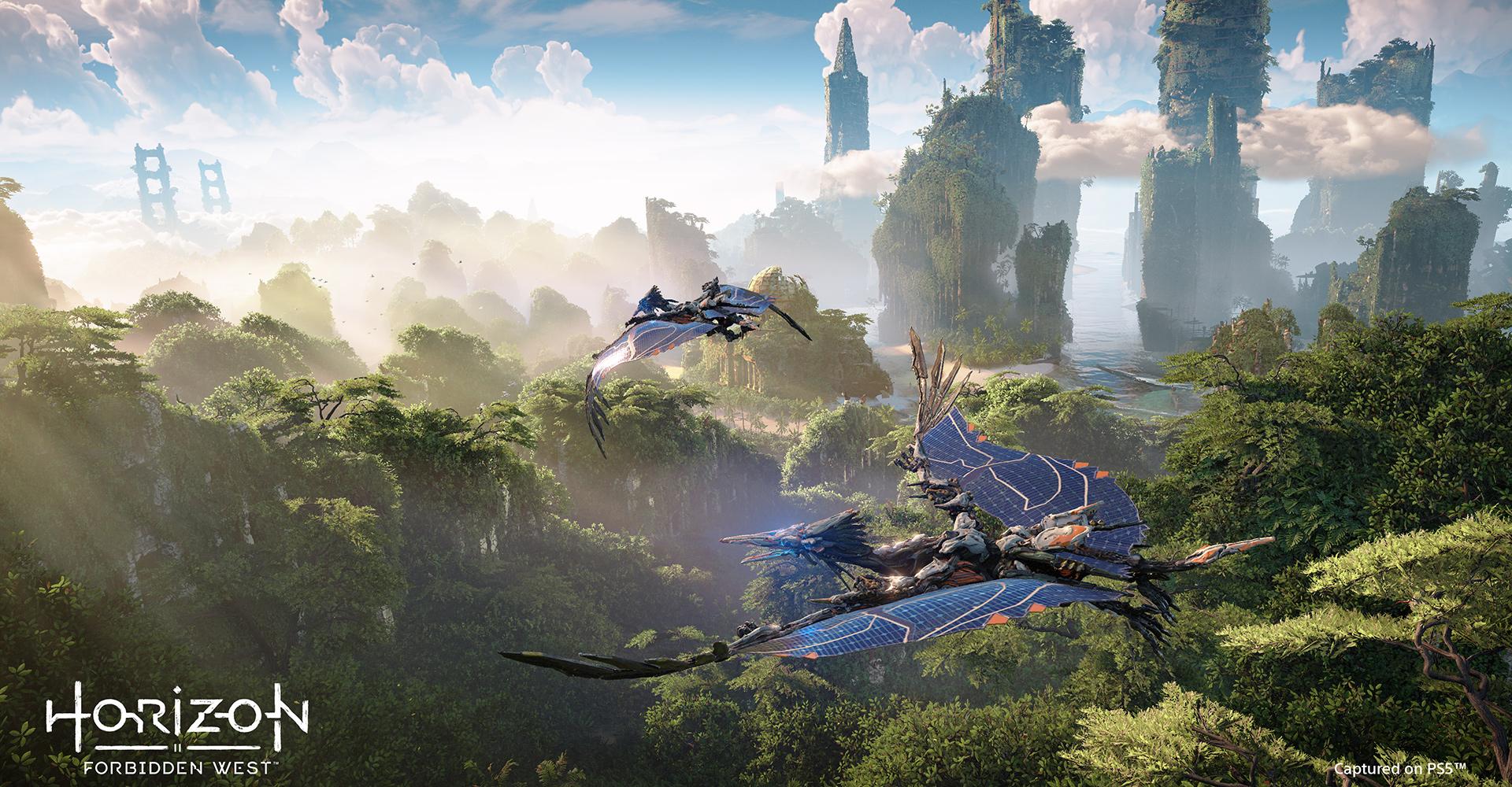 In Horizon Forbidden West segeln mechanische Flugsaurier durch die Lüfte