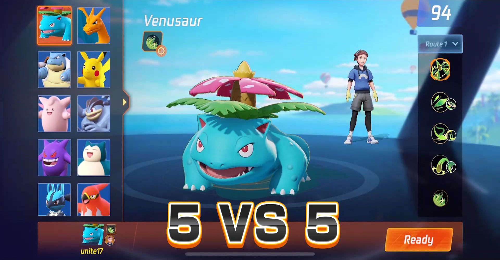 Screenshot von Pokémon Unite