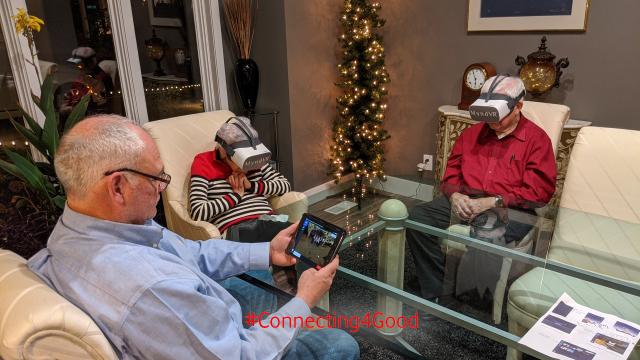 Senioren nutzen VR für Senioren