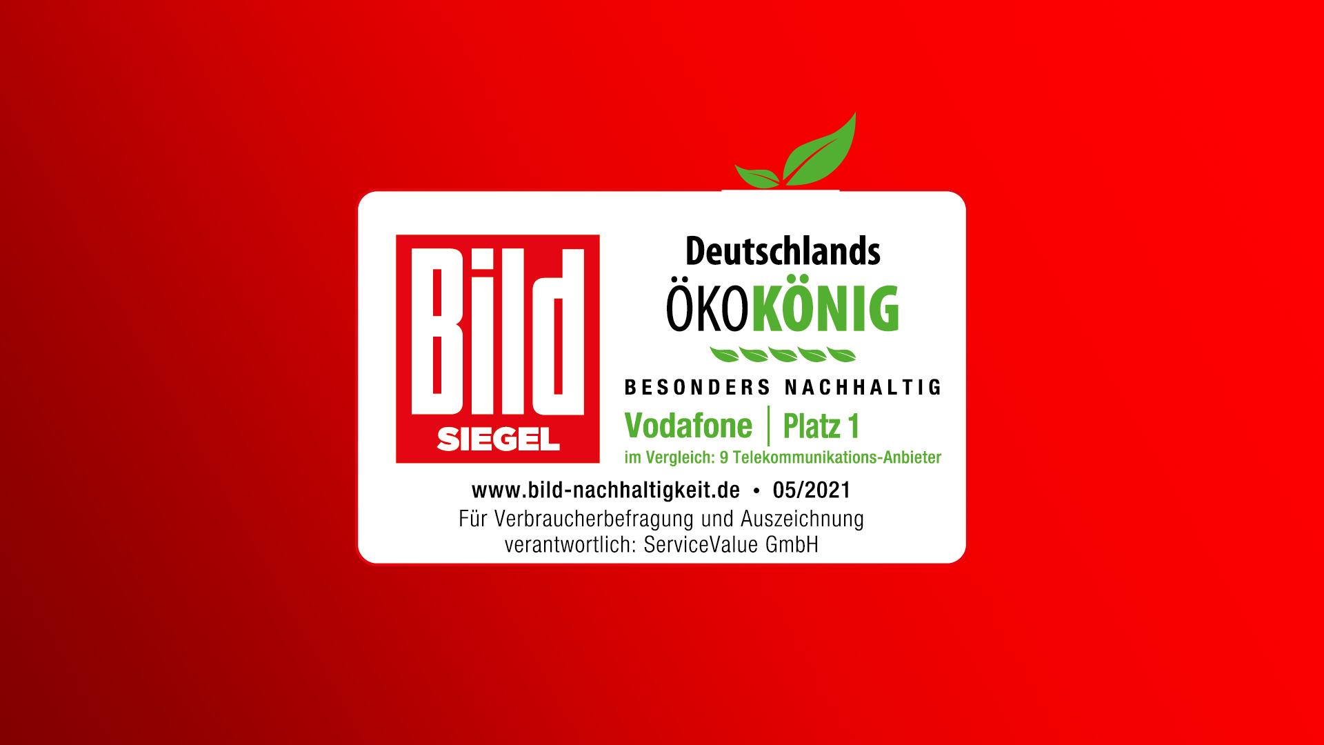 """Das """"Ökokönig""""-Siegel der BILD als Auszeichnung für nachhaltige Unternehmen."""