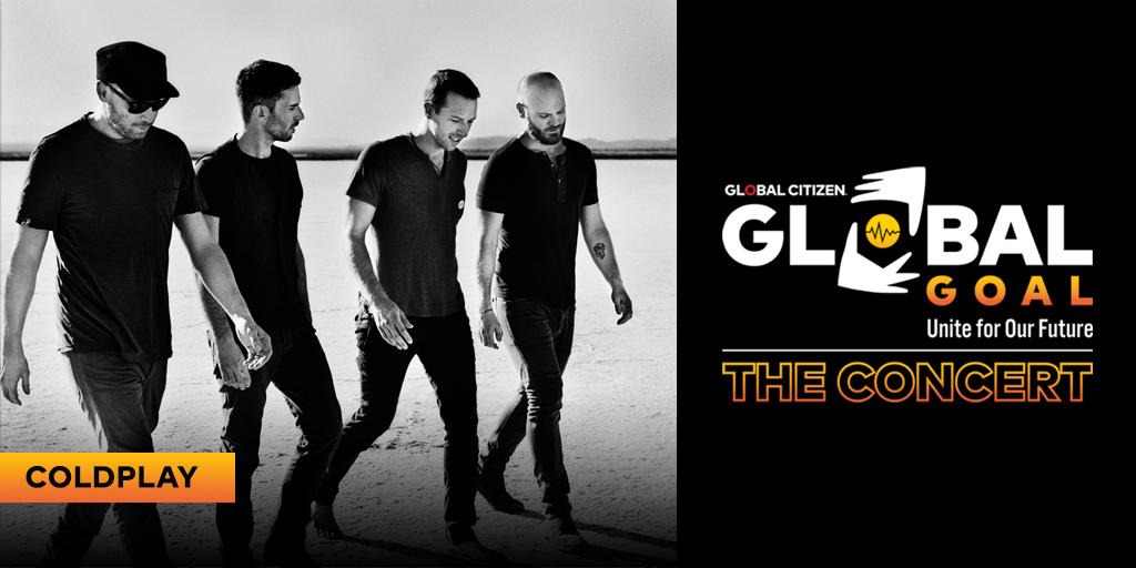 Coldplay Global Goal Unite