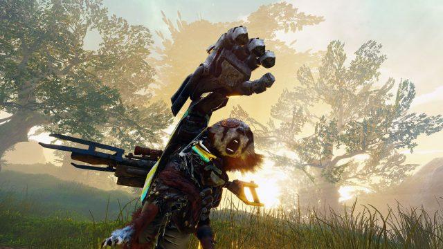 Screenshot des Action-RPG Biomutant.