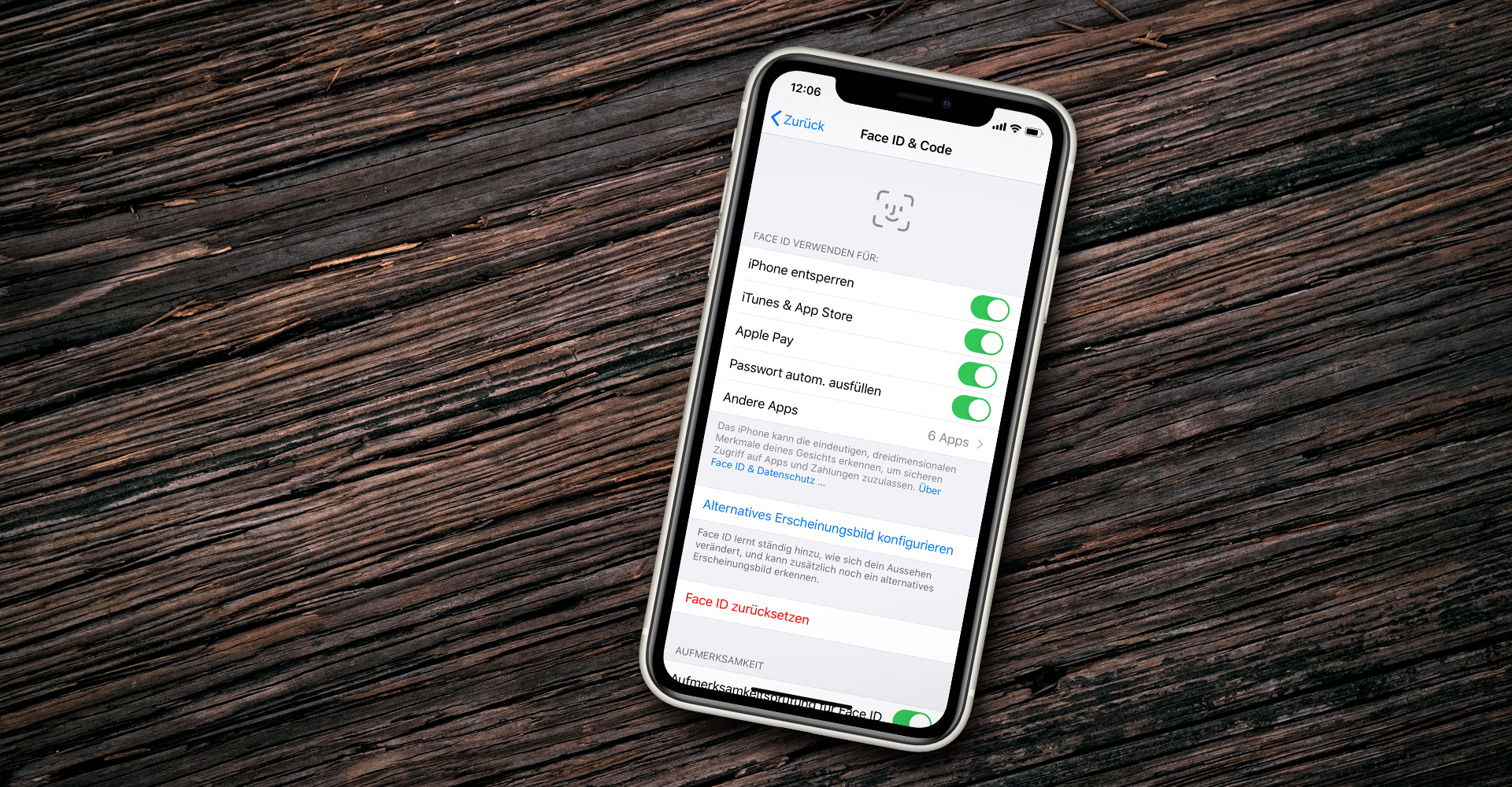 iPhone 11 Face ID Einstellungen