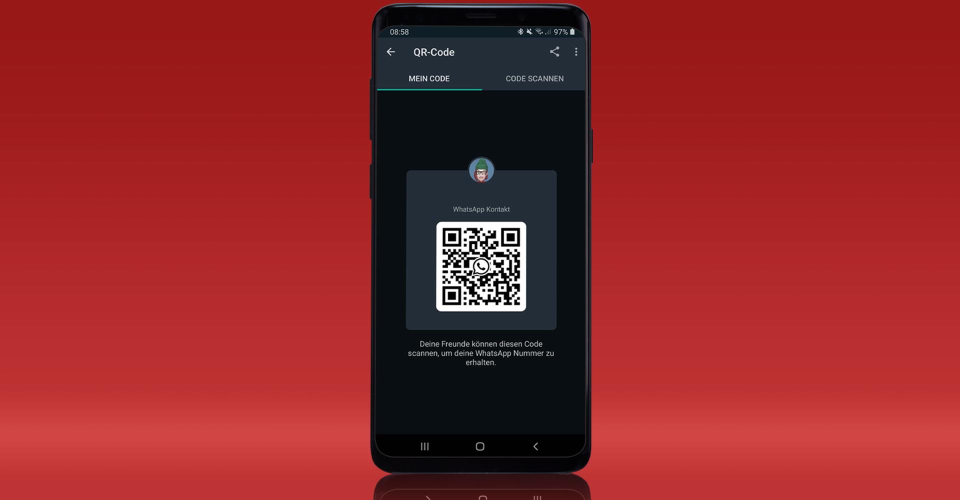 Der QR-Code-Scanner von WhatsApp