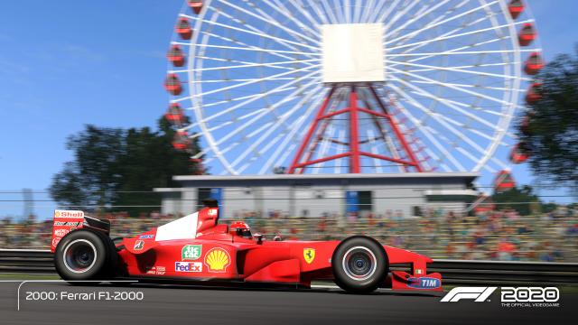 Roter Rennwagen auf der Strecke in Japan in F1 2020