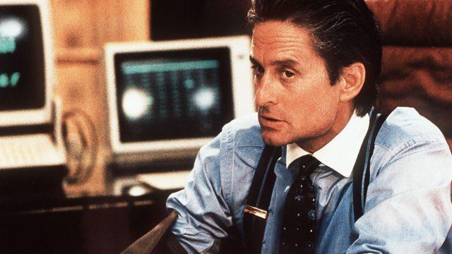 Michael Douglas als Gordon Gekko im Film Wall Street