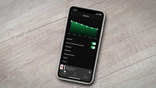 Der Spotify-Equalizer ist in der iOS-App integriert