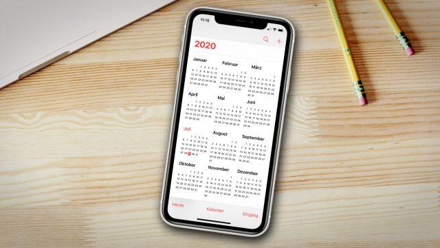 Auf dem iPhone einen Kalender löschen: es gibt mehrere Wege