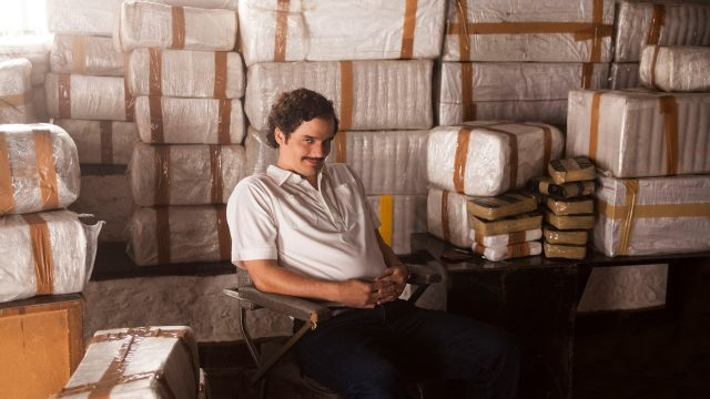 "Hauptdarsteller Wagner Moura als Pablo Escobar in ""Narcos"""