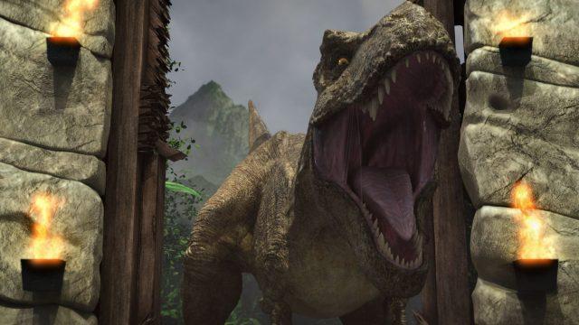 """Fleischfressender Dino in """"Jurassic World: Neue Abenteuer""""."""