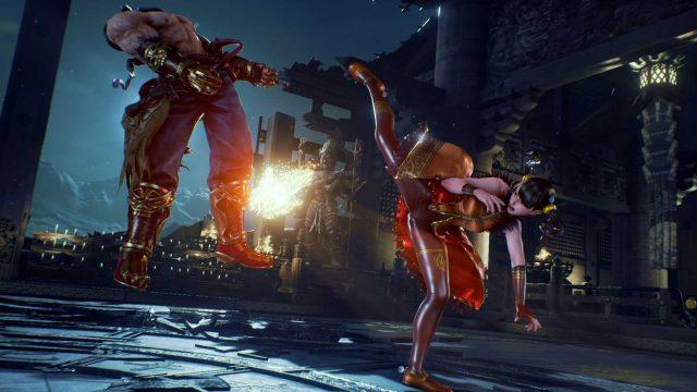 Zwei FIguren kämpfen im Videospiel Tekken 7