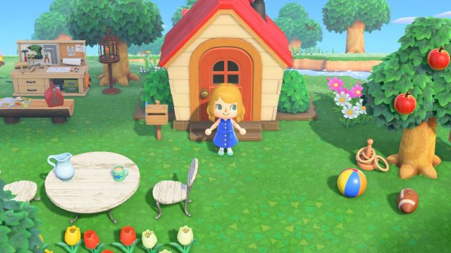 "Eine Insel in ""Animal Crossing: New Horizons"""