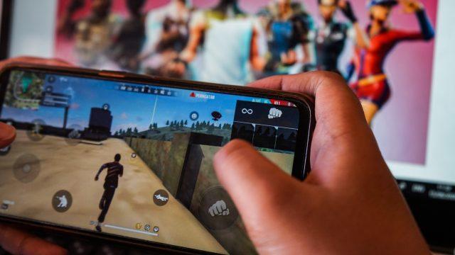 Fortnite auf einem Smartphone