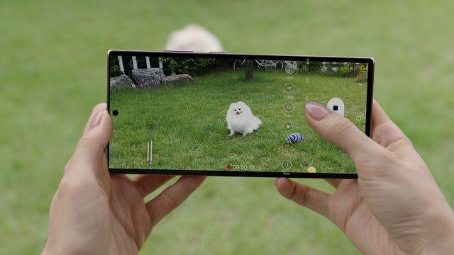 Mit dem Galaxy Note20 Ultra ein Video aufnehmen.