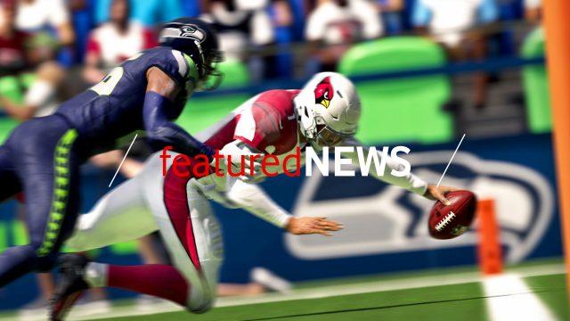 Game-Screenshot aus Madden NFL 21: Ein Spieler beim Touchdown
