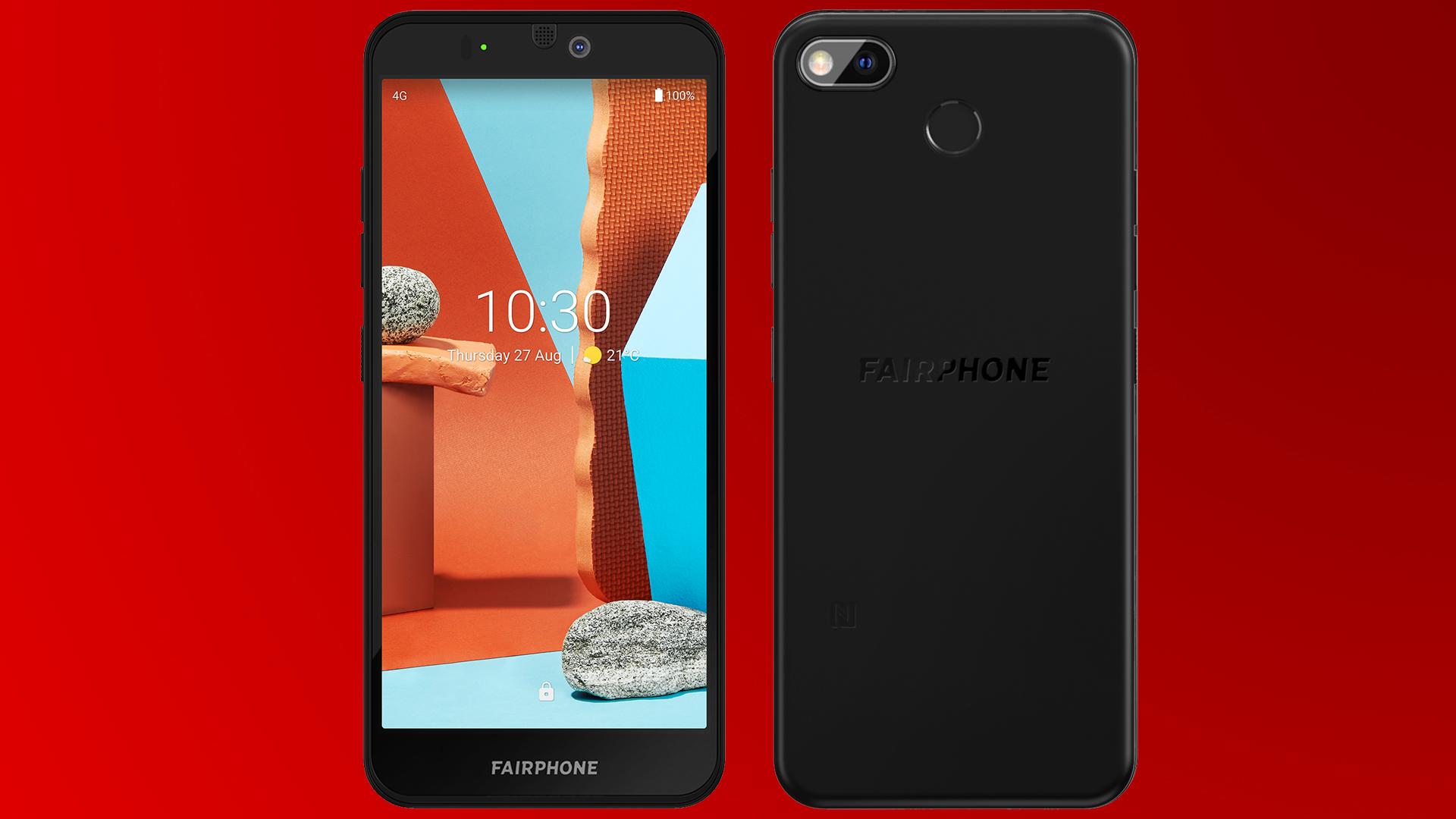 Die Vorder- und Rückseite des neuen Fairphone 3+.