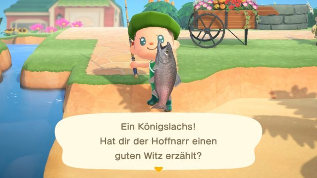"Königslachs in ""Animal Crossing: New Horizons"""