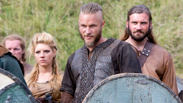 "Lagertha, Ragnar und Rollo in ""Vikings"""