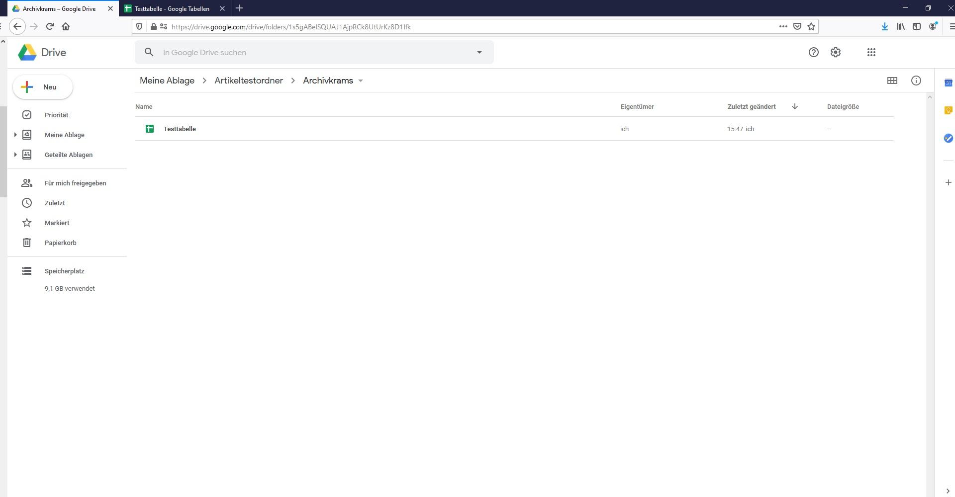 Tipp Google Drive Speicherplatz