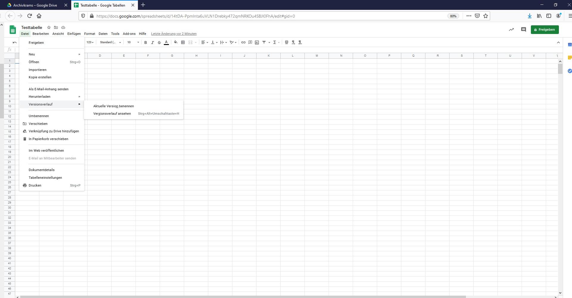 Google Drive Tipps Versionsverlauf