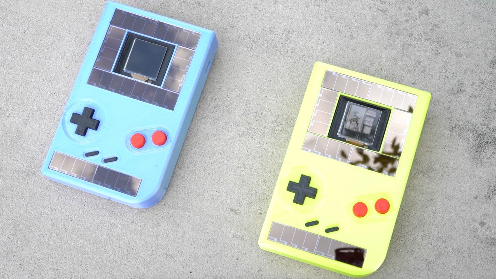 Solarpaneele und kinetische Energie versorgen den batteriefreien Game Boy