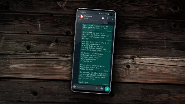WhatsApp Schreibmaschinen Schriftart