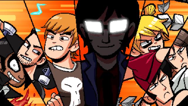 """Game-Screenshot aus """"Scott Pilgrim gegen den Rest der Welt"""", der Neuauflage des 10-jährigen Arcade-Spiels."""