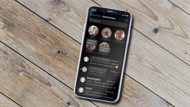 Nachrichten anpinnen unter iOS 14