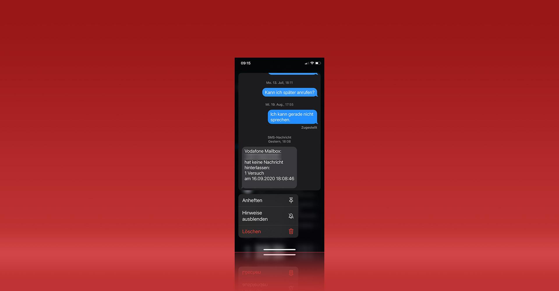 Wichtige Chats in der Nachrichten-App anpinnen