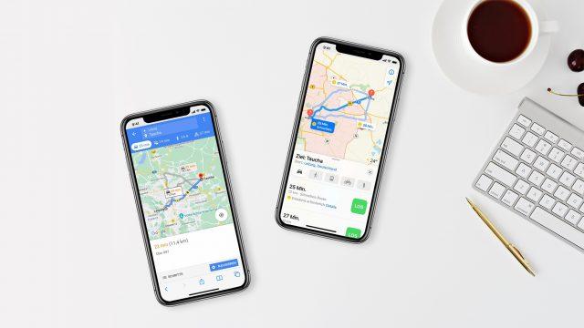 iPhone: Google Maps vs. Apple Karten