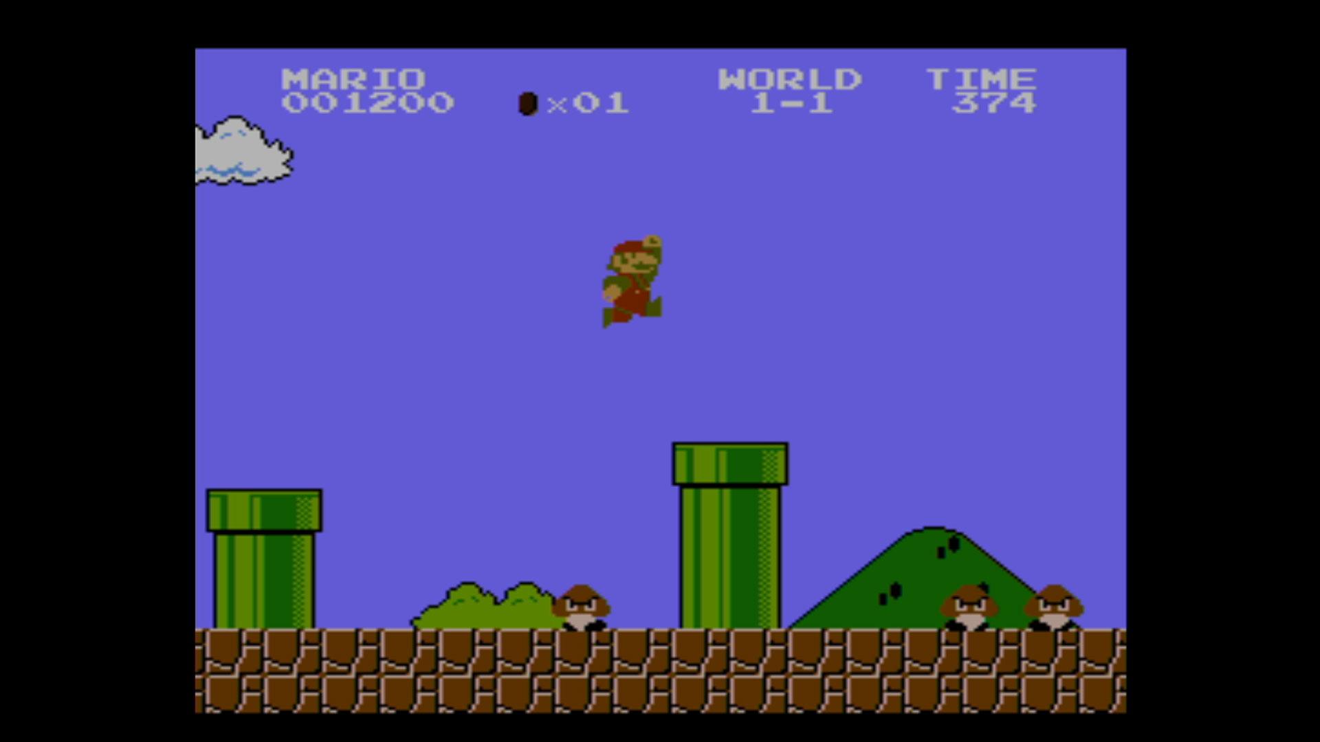 """Screenshot aus dem Spiel """"Super Mario Bros."""""""